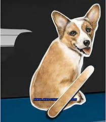 Amazon Com Wagging Wipers Corgi Dog Car Rear Wiper Sticker Decal Automotive