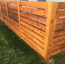 Bozeman Fence Company Horizontal Wood Picket Fence