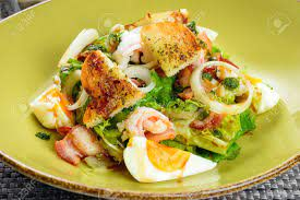 Korean Salad With Egg And Seafood In Green Dish Stock Photo, Picture And  Royalty ...