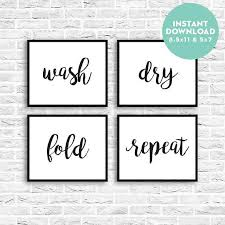 Laundry Room Printable Instant Download Modern Calligraphy Sign Laundry Quote Funny Wall Art Wash Dry Fold R Wash Dry Fold Funny Wall Art Calligraphy Signs