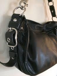 coach zoe hobo shoulder bag black
