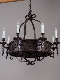 vintage french iron chandelier eight