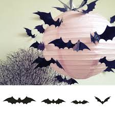 Cjw Halloween Party Supplies Pvc 3d Decorative Scary Bats Wall Decal Wall Eve For Sale Online Ebay