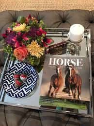 beautiful horse equestrian coffee table