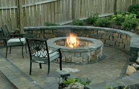 outdoor patio fireplace design with