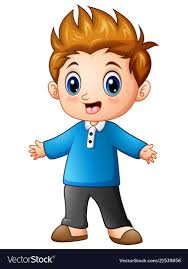 cute little boy cartoon royalty free