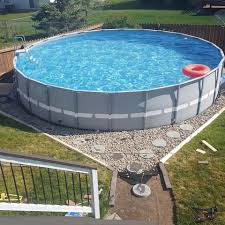 Outdoor Oasis Part 2 Intex Pool Above Ground Swimming Pools Above Ground Pool Landscaping Backyard Pool