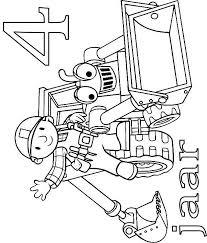 Kids N Fun Kleurplaat Bob De Bouwer Verjaardag Bob En Scoop 4 Jaar