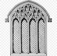 window stained glass drawing clip art