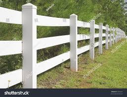 Decorative White Split Rail Fence Parks Outdoor Stock Image 4296331