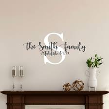 Farmhouse Name Wall Decal Personalized Family Name Custom Etsy