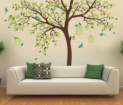Big Size Bird Cage Tree Nursery Wall Stickers Removable Vinyl Decal Ki Ellaseal