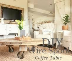 diy wire spool coffee table twelve on