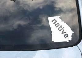 Georgia Native State Decal Wawhat