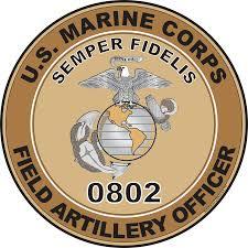 U S M C Mos 0802 Field Artillery Officer Decal