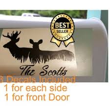 Mail Box Decals Yeti Cooler Decal Deer House Address Buck Etsy