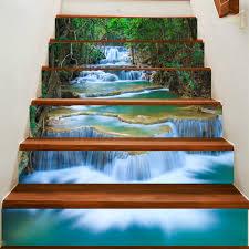 Fuloon Waterfall 3d Stair Sticker Diy Steps Sticker Wall Decal Mural Wallpaper Petagadget