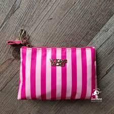 victoria secret pink striped makeup