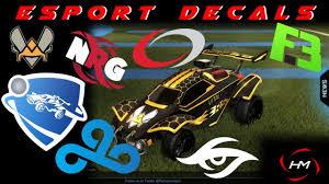 Esport Decals Rocket League Mods