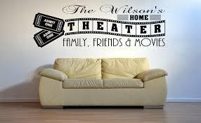 Wall Stickers Cinema Ticket Movie Film Cool Living Room Art Decals Vinyl Home