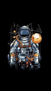 cartoon astronaut wallpapers top free