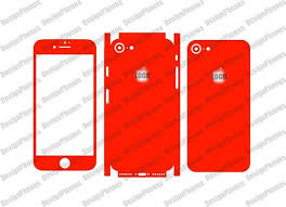 Iphone 7 Skin Cut Template File For Vinyl Cutting Vector Etsy