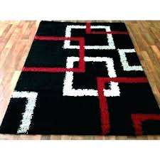 black white and gold area rug