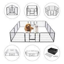 Heavy Duty Foldable Metal Indoor Outdoor Exercise Pet Fence Barrier Playpen Kennel For Dogs Cats Walmart Com Walmart Com