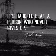 spirit of sports motivational quote never give up babe ruth