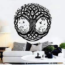 Lush Large Tree Vinyl Wall Decal Tribe Symbol Tree Of Life Nature Butterflies Stickers Murals Creative Home Decor Unique Dragon Wall Decals Entire Wall Decals From Onlinegame 12 66 Dhgate Com