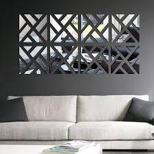 Black Geometric Wall Mirrors Wallpaper Decals Walmart Art Large Home Depot Online Stencils Vamosrayos