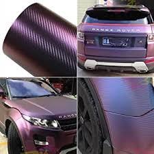 Amazon Com Atmomo Purple And Blue Car Chameleon Wrap Auto Carbon Fiber Wrapping Film Vehicle Change Color Sticker Tint Vinyl Air Bubble Free 75cm X 152cm Automotive
