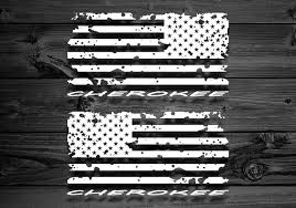 Distressed Flag Vinyl Decal Pair Decal For Jeep Cherokee Etsy Distressed Flag Vinyl Decals Jeep Cherokee Xj Accessories