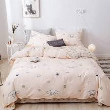 Amazon Com Bhusb Cute Cinnamoroll Print Kids Girls Bedding Duvet Cover Set Twin Soft Cotton Reversible Animal Dogs Pink Teens Boys Bedding Sets Twin 3 Pc Single Bed Comforter Covers With Zipper Closure