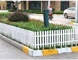 Zhanwei Garden Fence Picket Fencing Indoor Outdoor Pvc Plastic Lawn Protective Guard Rail White 4 Sizes Color 50x28cm Size 1 Pc Amazon Co Uk Garden Outdoors