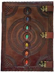 stone leather w 3 latches blank journal