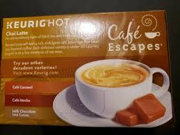 cafe escapes chai latte 12 ct cups exp
