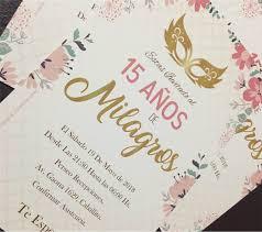20 Invitacion Antifaz Cumpleanos 15 Anos 480 00 En Mercado Libre