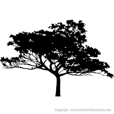 Tree Silhouette Decals Tree Wall Decal Trees Vinyl Wall Decals
