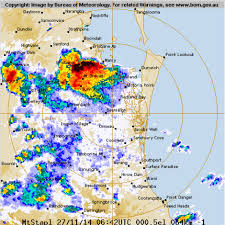Radar photo shows storms over Brisbane ...