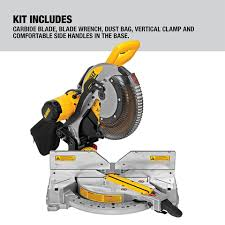 Dewalt 12 In 15 Amp Dual Bevel Compound Corded Miter Saw In The Miter Saws Department At Lowes Com