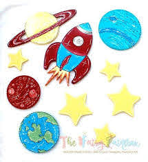 Solar System Nursery Room Wall Decor Set Outer Space Kids Room Wall The Fairy Paintbox