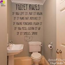 Toilet Rules Quote Wall Stickers Bathroom Removable Decals Diy Home Decor Decal Stickers Bathroom Wall Sticker Bathroomdiy Home Decor Aliexpress