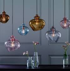 top 10 coloured glass pendant lights