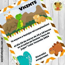 Dinosaurios Invitacion Whatsapp