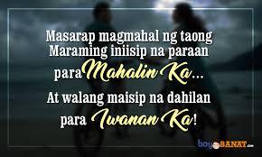 new tagalog love quotes boy banat