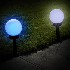 solar colour change globe garden light