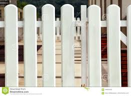 White Wooden Decorative Fence Stock Photo Image Of Background Rural 104843322