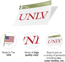Amazon Com University Of Nevada Las Vegas Unlv Rebels Ncaa Vinyl Decal Laptop Water Bottle Car Scrapbook Sticker 00035 Arts Crafts Sewing