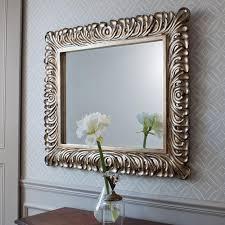 large ornate decorative wall mirror